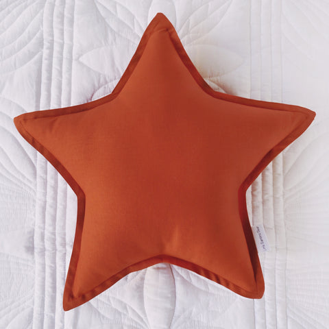 Rust Star Cushion - Little Bambino Bear