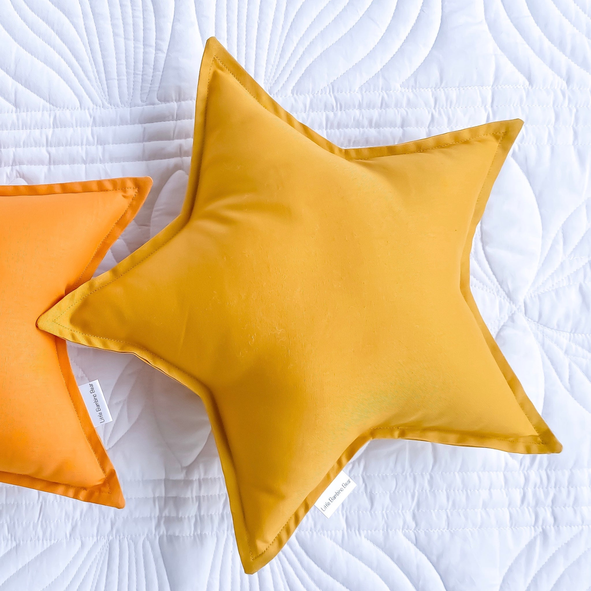 Mustard Star Cushion - Little Bambino Bear