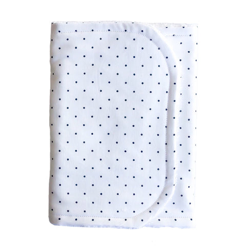 Little Bambino Bear - Black spot on White Burp Cloth