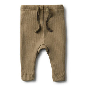 Wilson and Frenchy Organic Olive Rib Legging  | Little Bambino Bear