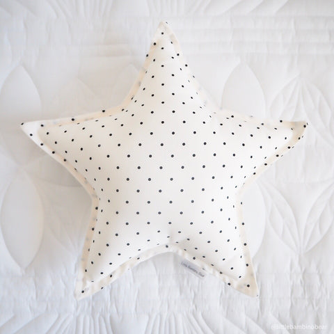 Cream Polka Dot Star Cushion | Little Bambino Bear