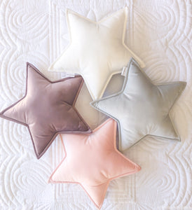 Velvet Star Cushion - Little Bambino Bear