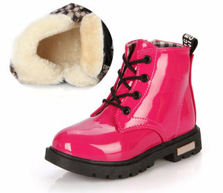 Fake Leather Boots For Kids