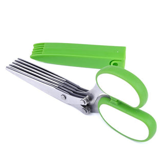 Durable Portable Stainless Steel Kitchen Scissors 5 Sushi Layer Quickly Spices Fruit Vegetable Choppers