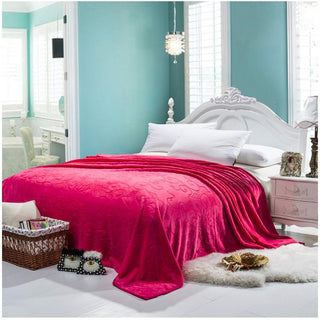 Embossed Flannel Velvet Blanket - Deals Blast