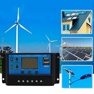 10A Solar Panels Battery Charge Controller 10/20/30 Amps Lamp Regulator Timer 12V 24V Solar Panels Battery Charge Controller