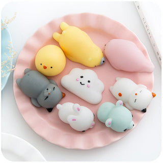 Novelty Squishy Antistress Squeeze Ball Toy Cute Seals Animals Emotion Vent Ball Resin Doll Stress Reliever Toy Gift