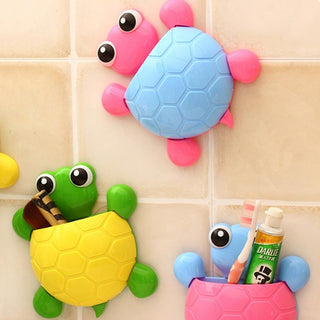 Turtle Toothbrush Holder Wall Mount Suction Cup - Deals Blast
