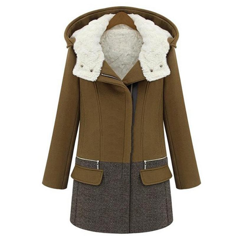 Winter Jackets Women Long Cashmere Coat Female Zipper Thick Woolen Coats Women Jacket Parka Slim Outwear Wool