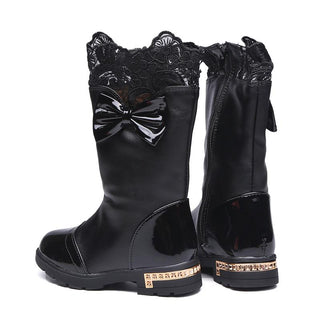 Girls Autumn Boots  With Bows