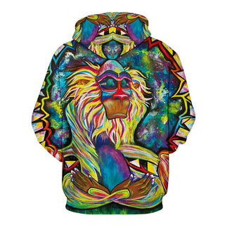 3D Printing Couples Orangutan pattern Streetwear Colorful Tracksuits Sweatshirts Hoodies for Men Women: Deals Blast