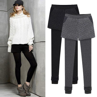 Winter Warm Leggings Thickening Black Gray Pants Casual For Women