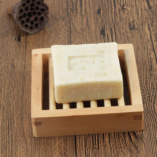Wooden Square Soap Dish Box Case Holder Container Bathroom  Products