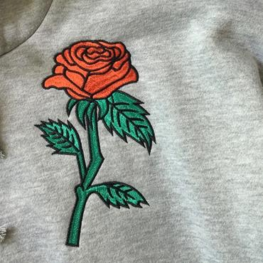 Hoodie With Rose Embroidery - Deals Blast