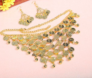 Belly Dance Necklace With Earrings For Women: Deals Blast