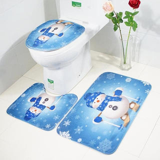Christmas Toilet Seat Cover And Bathroom mat - Deals Blast