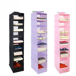 9 Cell Hanging Box For Clothes Shoe Jean Storage: Deals Blast