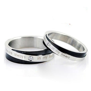 His And Hers Promise Sets Stainless Steel Ring: Deals Blast