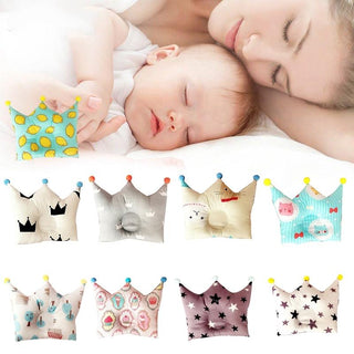 Baby Forming  Cotton  Flat Head  Crown Shape Pillow: Deals Blast