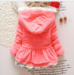 Baby Girl's Jackets Winter Jackets Parkas For Kids Children's Clothing Hoody Outerwear Coat Cotton Thicken Suit: Deals Blast