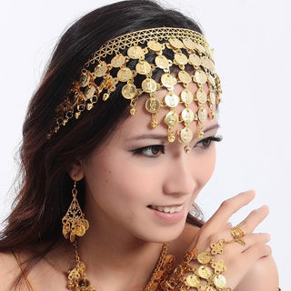 Belly Dance Costumes Chain Hair Accessory Metal Coins: Deals Blast