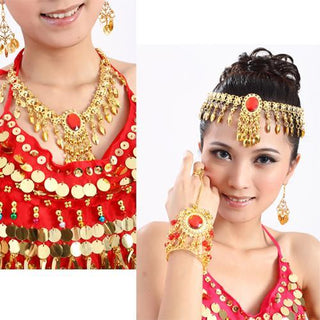 Belly Dance Costumes Jewelry 2 Chain Indian Hair Accessory: Deals Blast