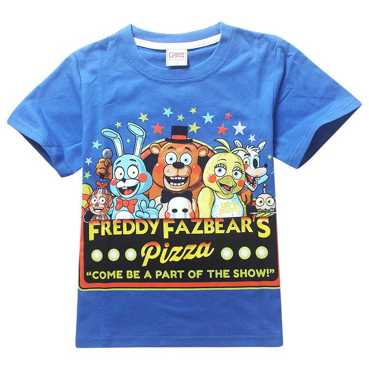 Children's Day Kids Boys T-shirt Girls Tops Tees Cartoon five nights at freddy's Tshirt Kids Clothes ROBLOX RED NOSE Day T Shirt: Deals Blast