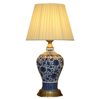 Ceramic Porcelain Bedroom Table Lamp Romantic Fabric - Deals Blast