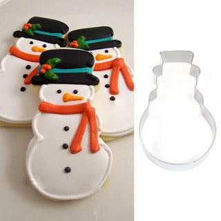 Christmas Snowman Fondant Mould Stainless Steel Cookie Cutter