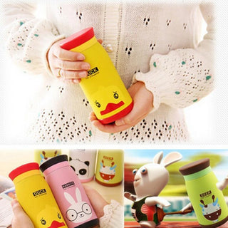 Colorful  Insulated Mug Lovely Cute Animal Cartoon Stainless Steel Vacuum Flasks Thermoses Warm Water Cup