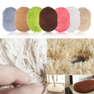 Comfortable  Bedroom Blanket Mat Cute Oval Velvet Mat Thicken Blanket For Living Room Bedroom