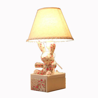 Modern fabric rabbit bedroom table lamp - Deals Blast