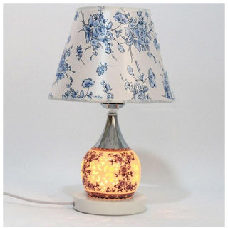 Fabric Shade Table Lamp Ceramic Traditional desk Light - Deals Blast
