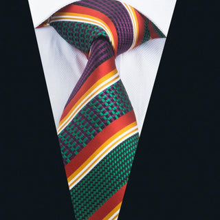 Striped Silk Designers Halloween Work Neck Ties Wedding