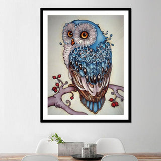 DIY 5D Rhinestones Painting Owl Embroidery Home Wall Decor