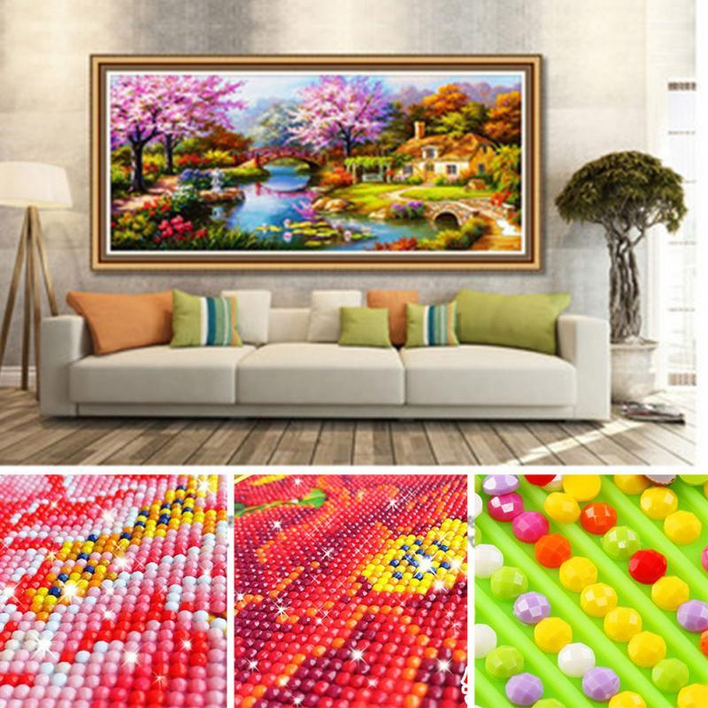 Shiny 5D Mosaic Diamond Painting Scenic Plant Flower Home Decor: Deals Blast
