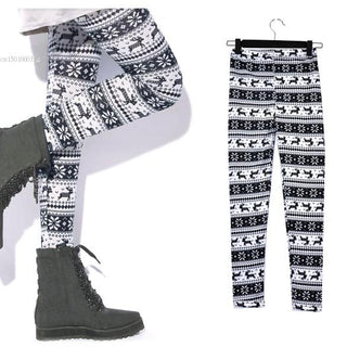 Fashion Lady Snowflakes Leggings Pants  For Women's: Deals Blast