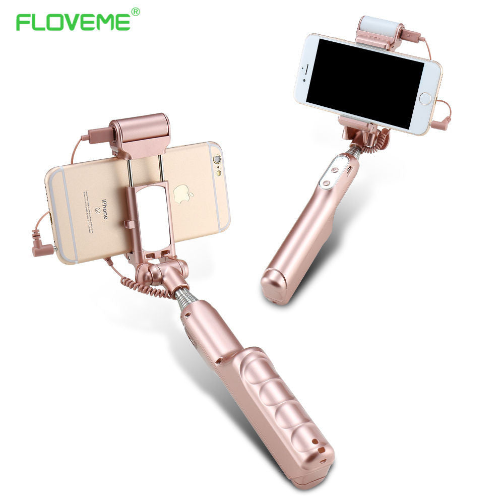 Universal Phone Camera Selfie Stick Self-timer Monopod For iPhone Samsung Huawei Android Case Wired Extendable Kickstand - Deals Blast