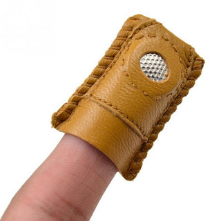Thimble Leather Finger  With Metal Tip For Sewing Needle: Deals Blast