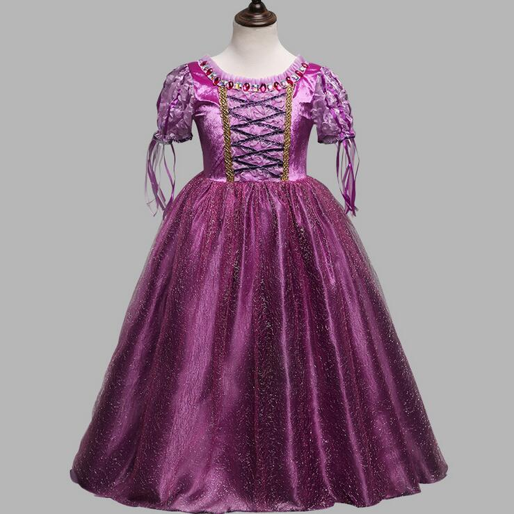 New Puff Sleeve Ball Gown Costume Dress For Kids Christmas Party
