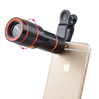 Universal 12X Zoom Mobile Phone Lens for iPhone 7 plus 6 Samsung S7 S6 edge Smartphones Clip-on Telescope Camera Lens APL-HS12X - Deals Blast