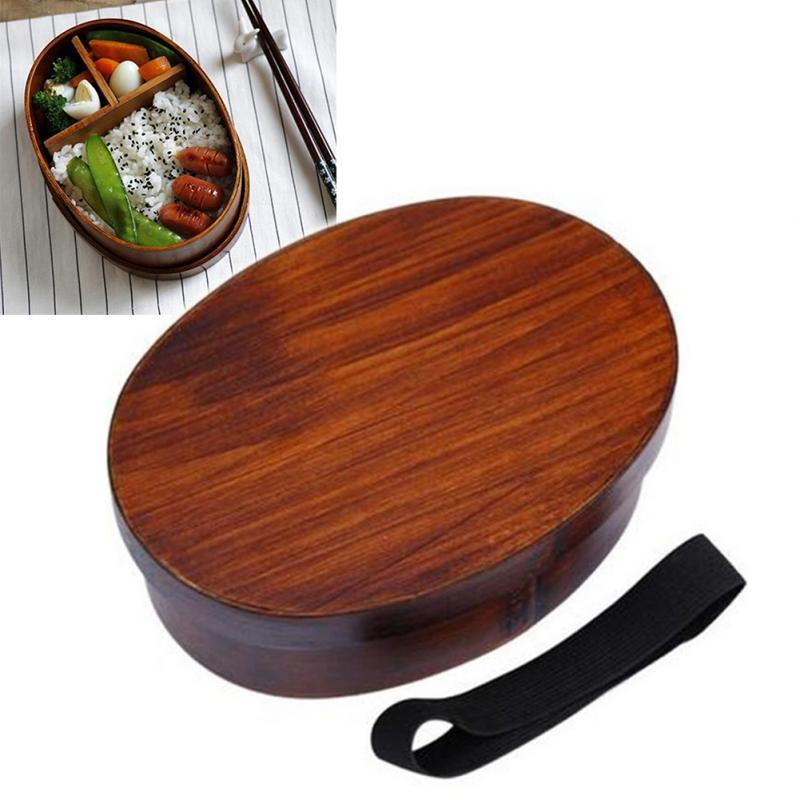 Handmade Wooden Sushi Tableware Bowl Food Container