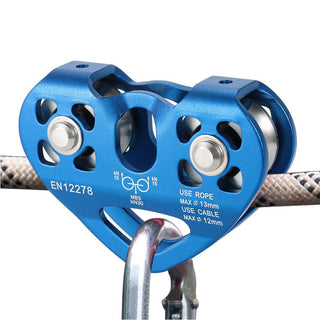 Lixada Outdoor Rock Caving Ice Climbing Equipment 30kN Zipline Cable Trolley Slider Speed Pulley with Ball Bearing Work Rescue: Deals Blast