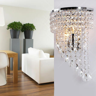 Half-Wing Crystal Hanging Luxury Bedroom Wall Lamp - Deals Blast
