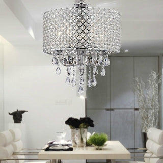 Chrome Finish 4-light Crystal Chandelier Light - Deals Blast