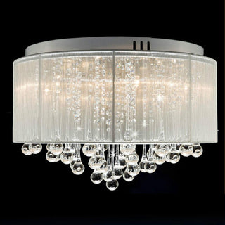 Flush Mounted Luxury Contemporary Drum Ceiling Chandelier Light Fixtures Lamp - Deals Blast
