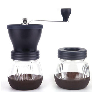 Manual Ceramic Coffee Grinder ABS Ceramic Core Stainless Steel Burr Grinder Kitchen DIY Mini Manual Hand Coffee Grinder: Deals Blast