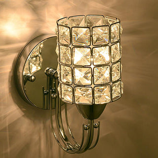 Modern Bedroom Bedsides Crystal Torch Wall Lamp - Deals Blast