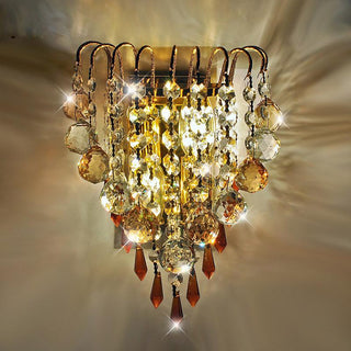 Modern Crystal Hanging Golden Wall Lights For Bedroom Bedsides - Deals Blast