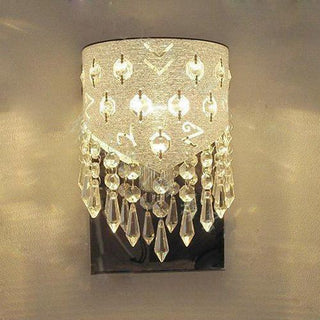 Modern Stainless Steel European Acrylic Crystal Bedroom Wall Lamp - Deals Blast